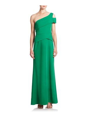 BCBGMAXAZRIA cut-out one-shoulder gown