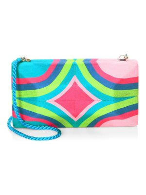BEATRIZ rainbow large convertible clutch