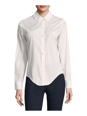 Becken luxe slim-fit button-down blouse
