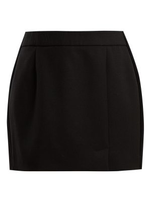 Bella Freud Alexa side-striped wool-blend mini skirt