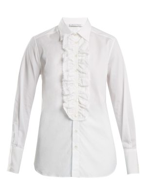 Bella Freud Dado ruffle-trim cotton shirt