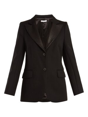 Bella Freud Isaacs contrast-lapel wool-blend blazer