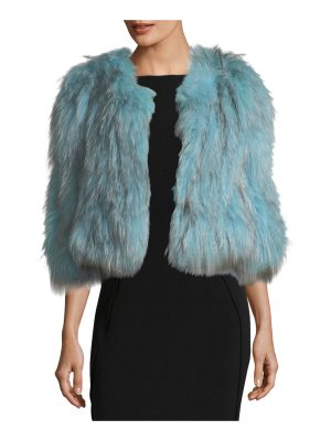 Belle Fare Silver Fox Short Bolero Coat