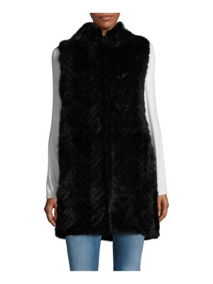 Belle Fare Sleeveless Mink Fur Tunic Vest