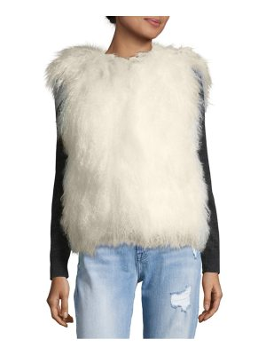 Belle Fare Textured Fur Top