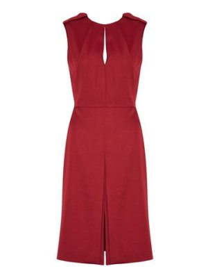 Belstaff pleated crepe de chine dress