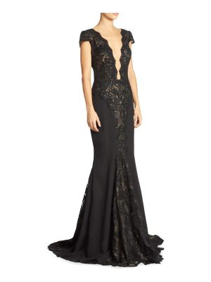 BERTA lace illusion gown