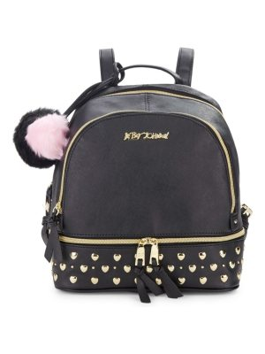 Betsey Johnson Studded Zip-Around Backpack