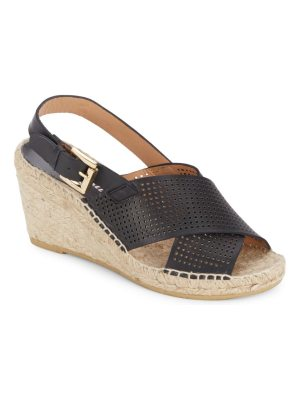 Bettye Muller Direct Perforated Espadrille Wedges