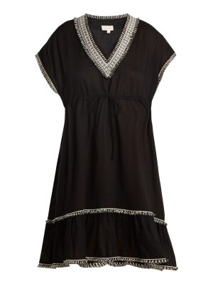 BIONDI Menara V-neck tassel-trimmed dress