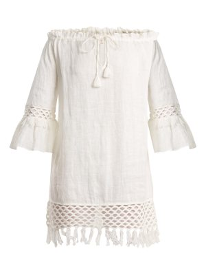 BIONDI Off-the-shoulder linen dress