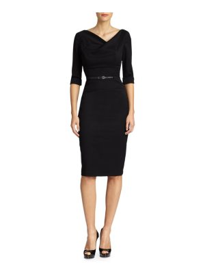 Black Halo jackie o three-quarter sleeve dress