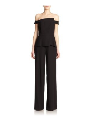 Black Halo lareina off-the-shoulder jumpsuit