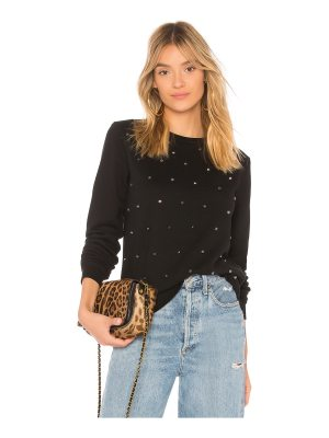 Black Orchid Embellished Sweatshirt