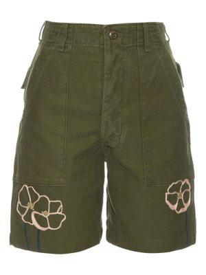 BLISS AND MISCHIEF Field Poppy cotton shorts