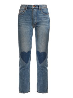BLISS AND MISCHIEF Love high-rise straight-leg cropped jeans