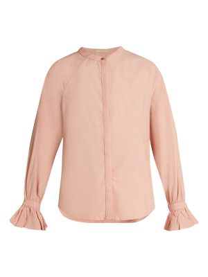 BLISS AND MISCHIEF ruffled cuff poplin blouse