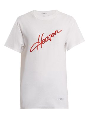 BLOUSE Heaven-embroidered cotton T-shirt