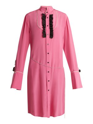 BLOUSE Magnus ruffle-trimmed silk shirtdress