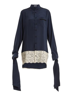 BLOUSE Tessa tie-cuff silk-crepe oversized shirtdress
