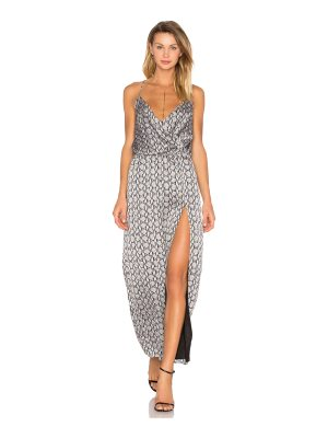 BLQ BASIQ Snake Print Side Slit Dress