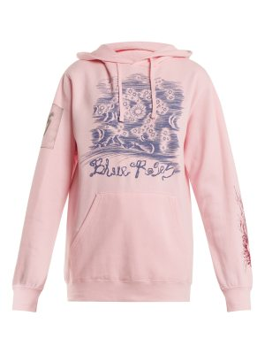 BLUE ROSES Suddenly Print Cotton Blend Hooded Sweatshirt