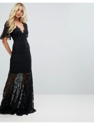 Body Frock Bodyfrock Plunge Front Lace Fishtail Maxi Dress