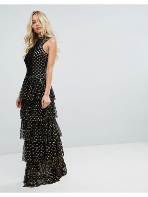 Body Frock Bodyfrock Tiered Polka Dot Maxi Dress
