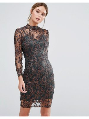 Body Frock Leah Sculpting Dress with Metallic lace
