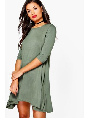 Boohoo 3/4 Sleeve Swing Dress