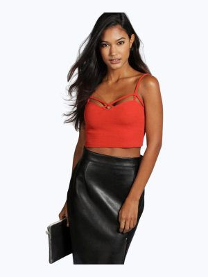 Boohoo Strappy Front Bralet