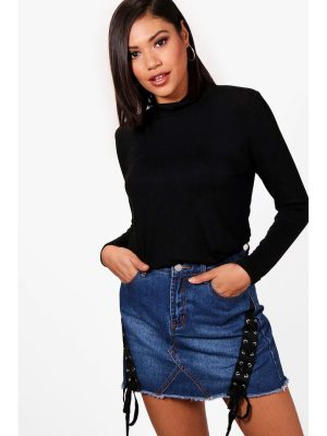 Boohoo Emily Roll Neck Slouchy Top