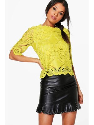 Boohoo Crochet Lace Shell Top