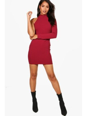 Boohoo One Shoulder Bodycon Dress