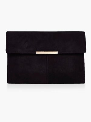 Boohoo Lily Metal Trim Envelope Clutch Bag
