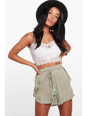 Boohoo Tassel Trim Shorts