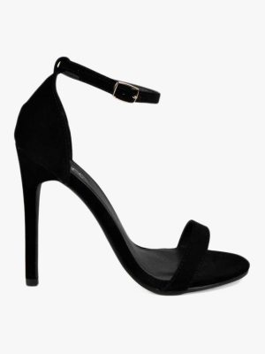 Boohoo Suedette Skinny Barely There Heels