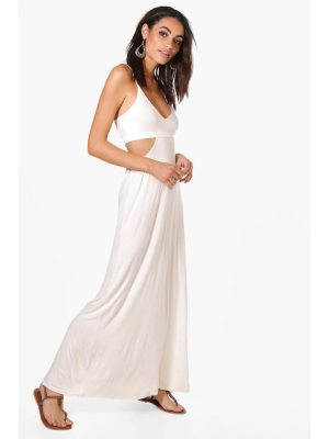 Boohoo Cut Out Strappy Maxi Dress