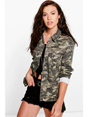 Boohoo Oversize Camo Denim Jacket
