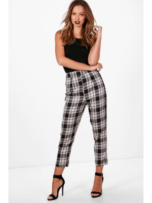 Boohoo Woven Large flannel Slim Fit Pants