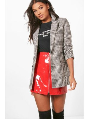 Boohoo flannel Wool Look Blazer Coat
