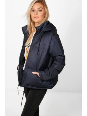 Boohoo Hooded Padded Jacket