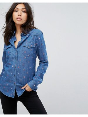 BOSS Casual Boss Casual Coffee Bean Embroidered Shirt
