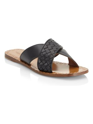 Bottega Veneta crisscross flat sandals