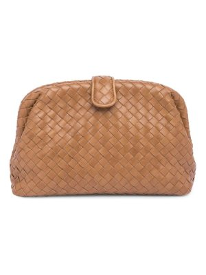 Bottega Veneta nappa woven leather clutch