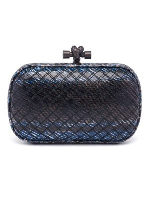 Bottega Veneta watersnake knot box clutch