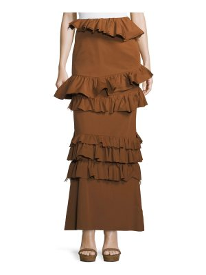 Brock Collection Long Tiered Ruffled Skirt