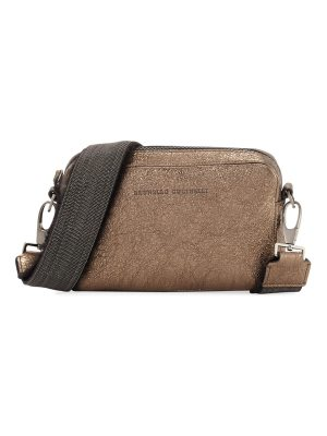 Brunello Cucinelli Small Monili Metallic Camera Bag