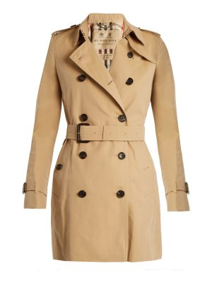 Burberry Kensington mid-length gabardine trench coat