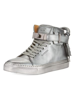 Buscemi 100mm Metallic Lace-Up High-Top Sneakers